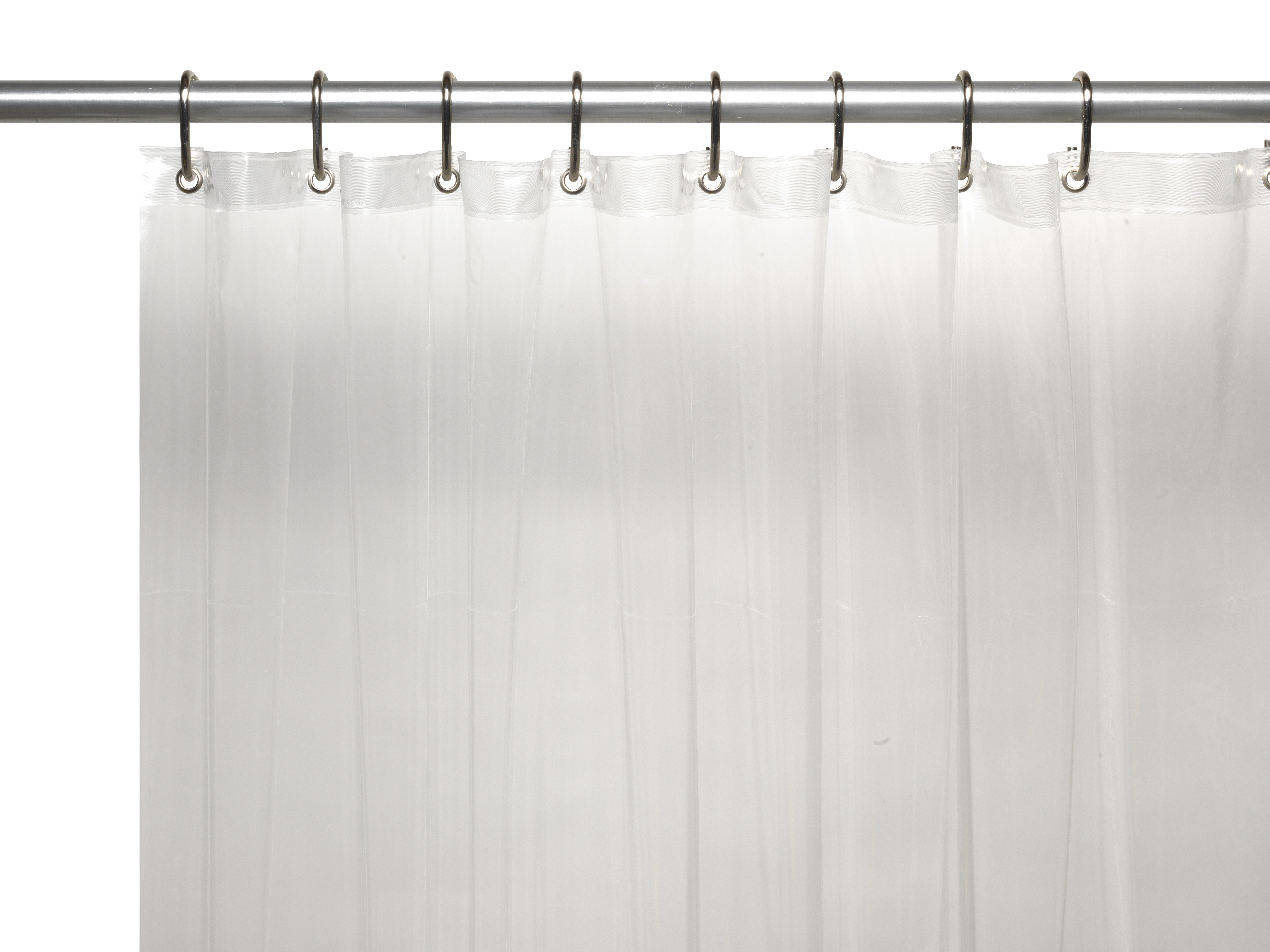 Image is loading peva shower curtain liner 6 gauge with metal