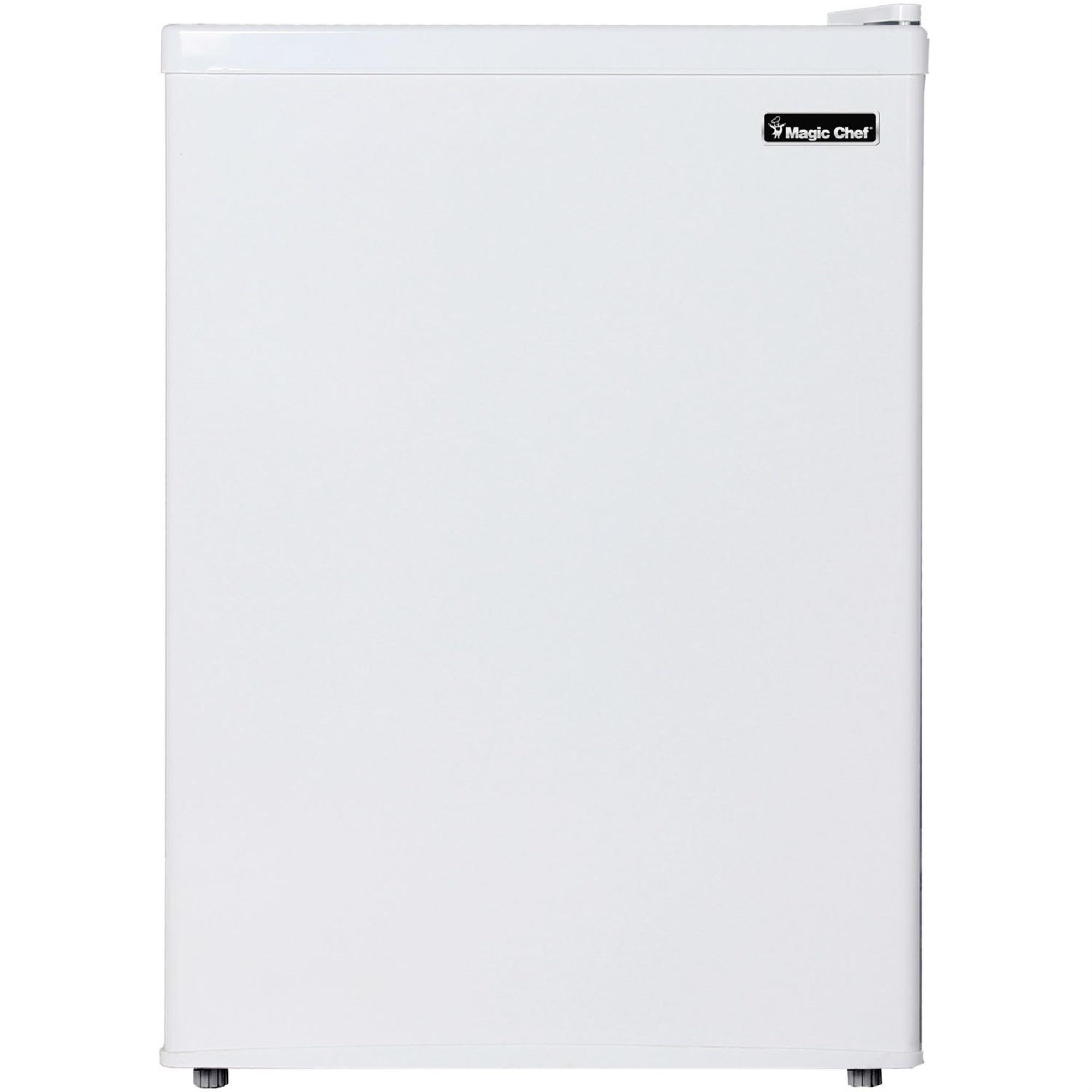 Magic Chef MCBR240W1 2.4 Cu. Ft. Mini Refrigerator with Half