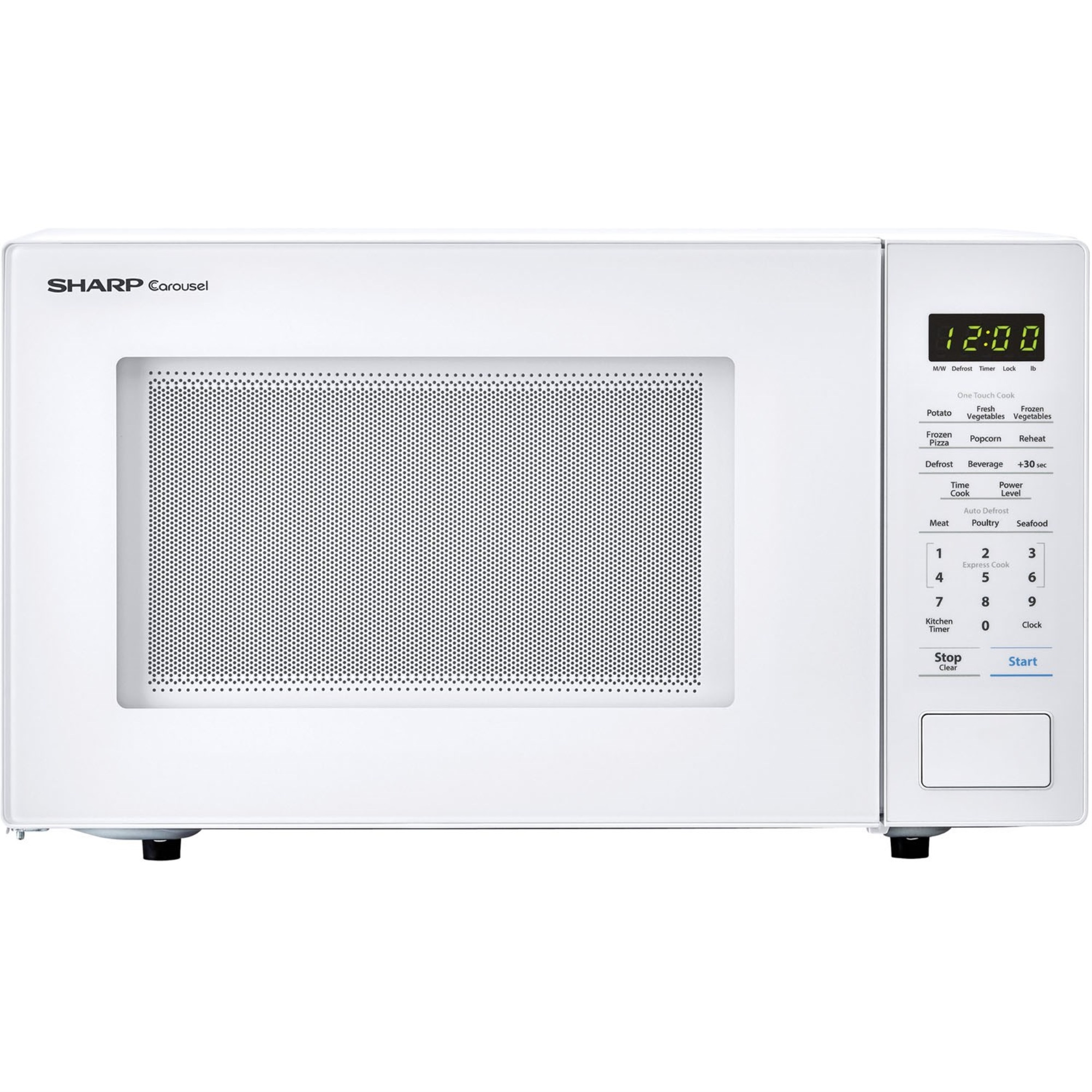 Carousel 1.1 Cu. Ft. 1000W Countertop Microwave Oven in Whit