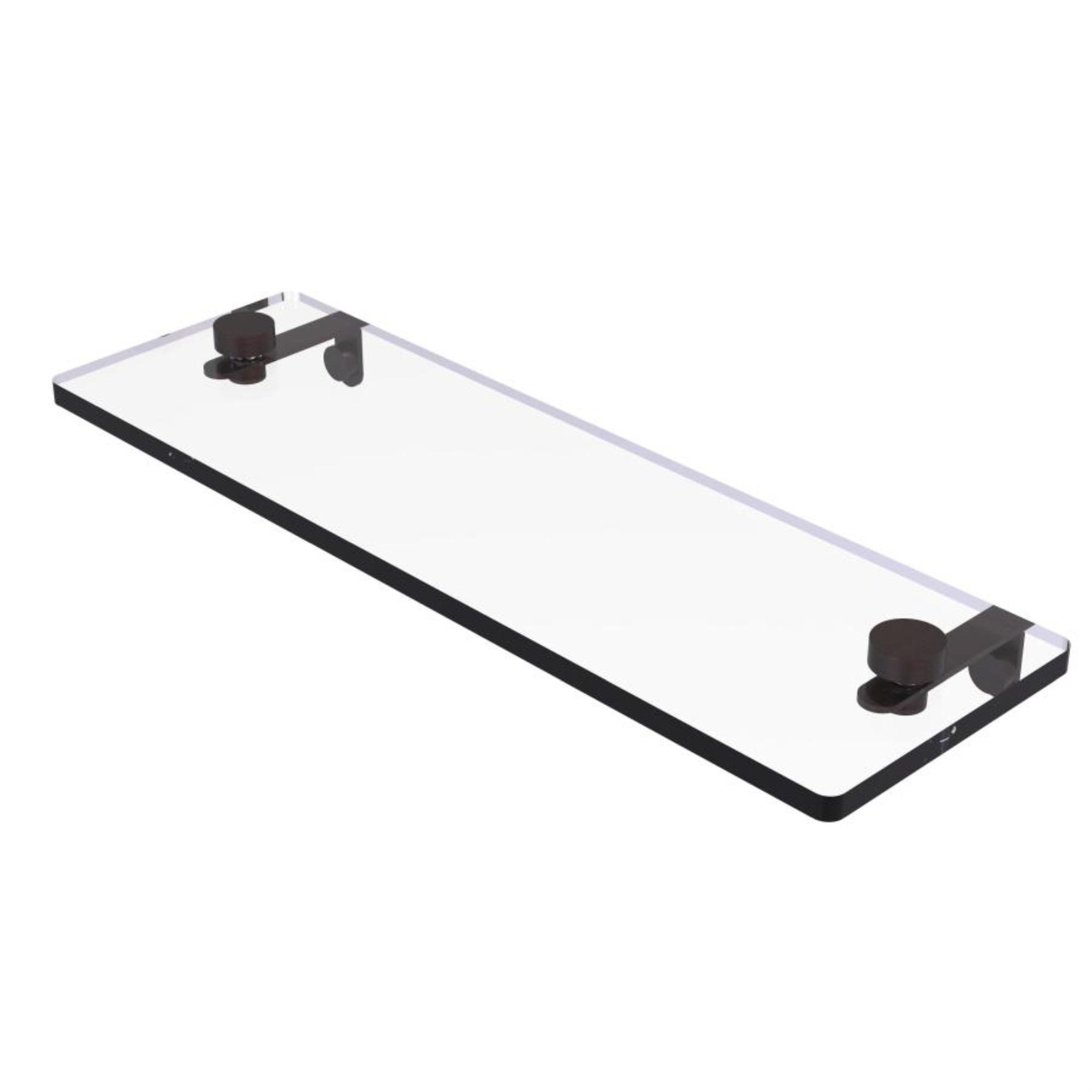 16 Inch Glass Vanity Shelf with Beveled Edges - NS-1/16-VB