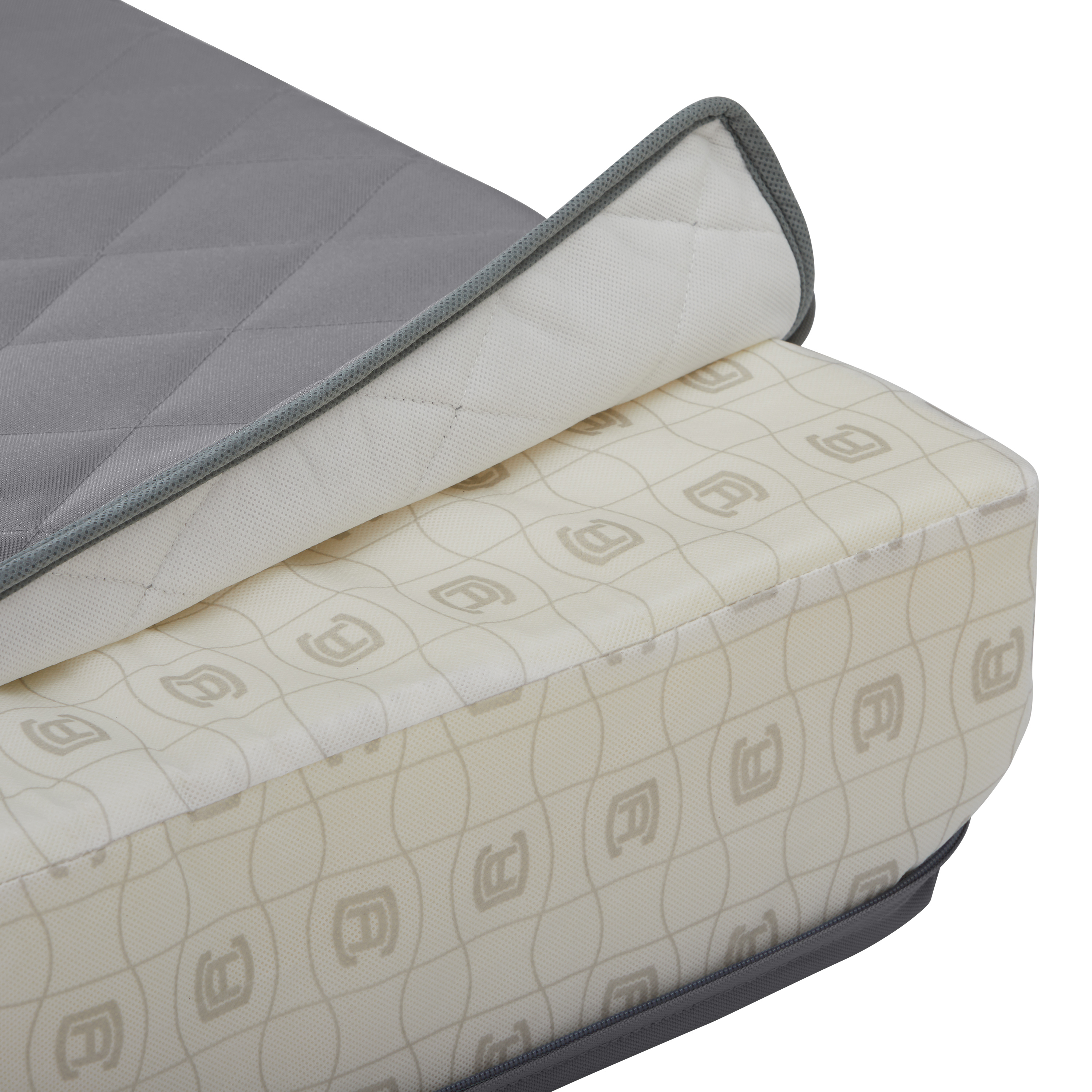 """Wide Back Lounge Quilted Cushion Cover, Grey, 21""""W x 20""""H ..."""