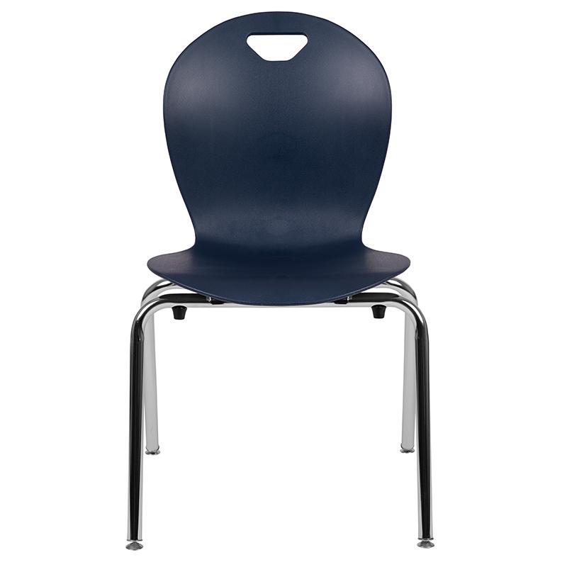 Advantage Black Student Stack School Chair 12-inch