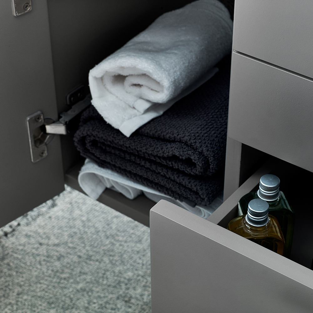 Details About Fresca Lucera 48 Gray Wall Hung Modern Bathroom Cabinet W Top Vessel Sink
