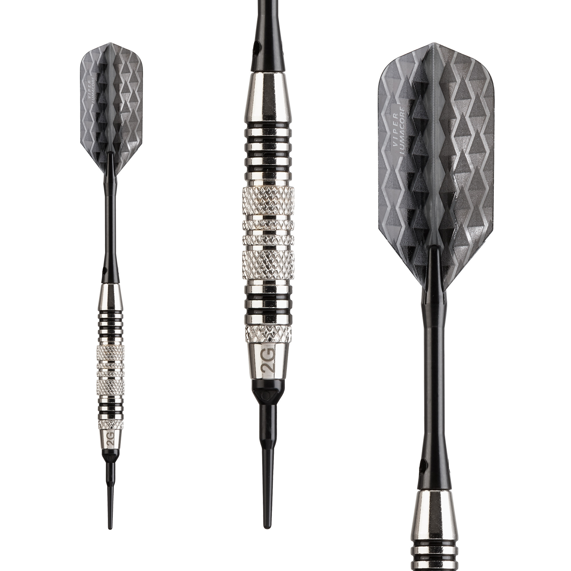 Viper-Bobcat-Adjustable-Weight-Soft-Tip-Darts-with-Storage-Travel-Case-Nicke thumbnail 6