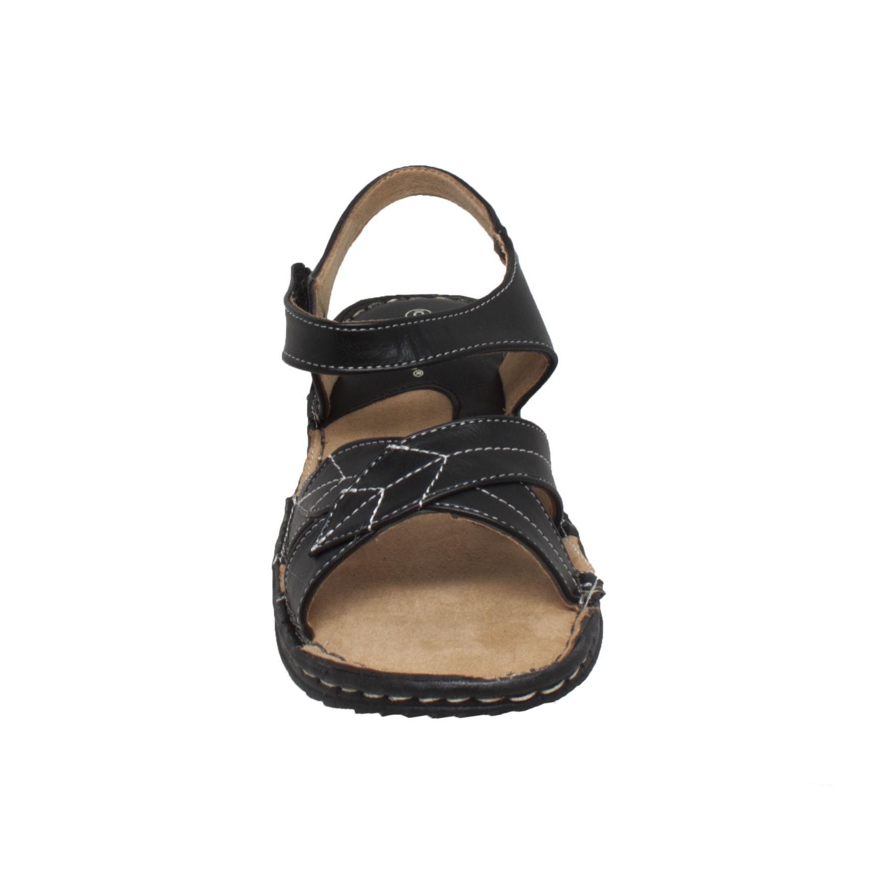 Comfort Sandal with Ankle Strap Black