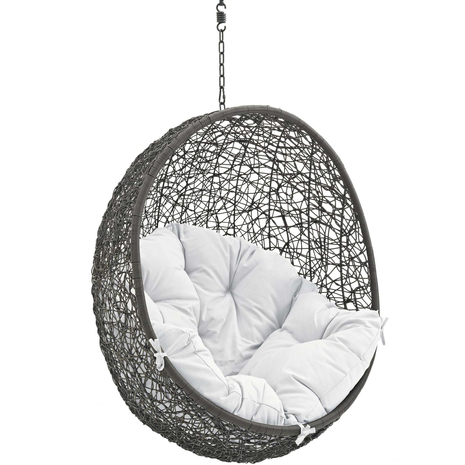 Hide Outdoor Patio Swing Chair With Stand - White Gray | eBay