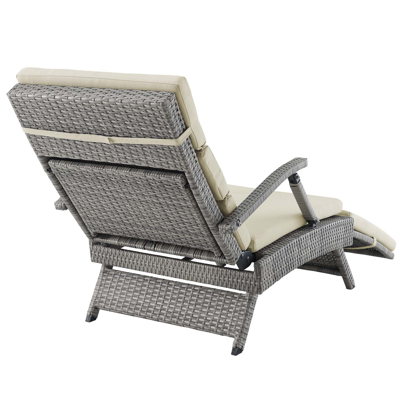 Fantastic Details About Envisage Chaise Outdoor Patio Wicker Rattan Lounge Chair Light Gray Beige Pabps2019 Chair Design Images Pabps2019Com