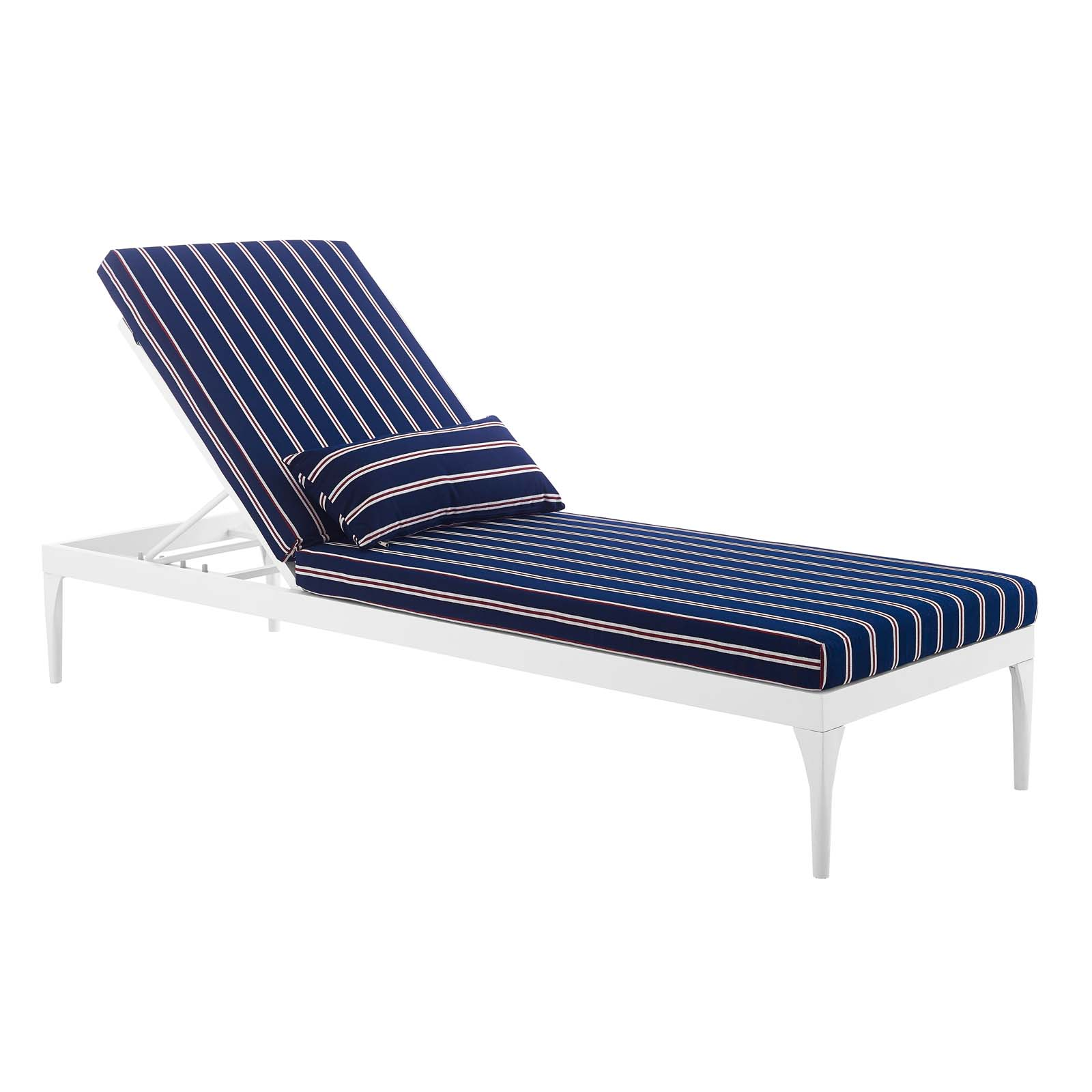 Details About Perspective Cushion Outdoor Patio Chaise Lounge Chair White Charcoal
