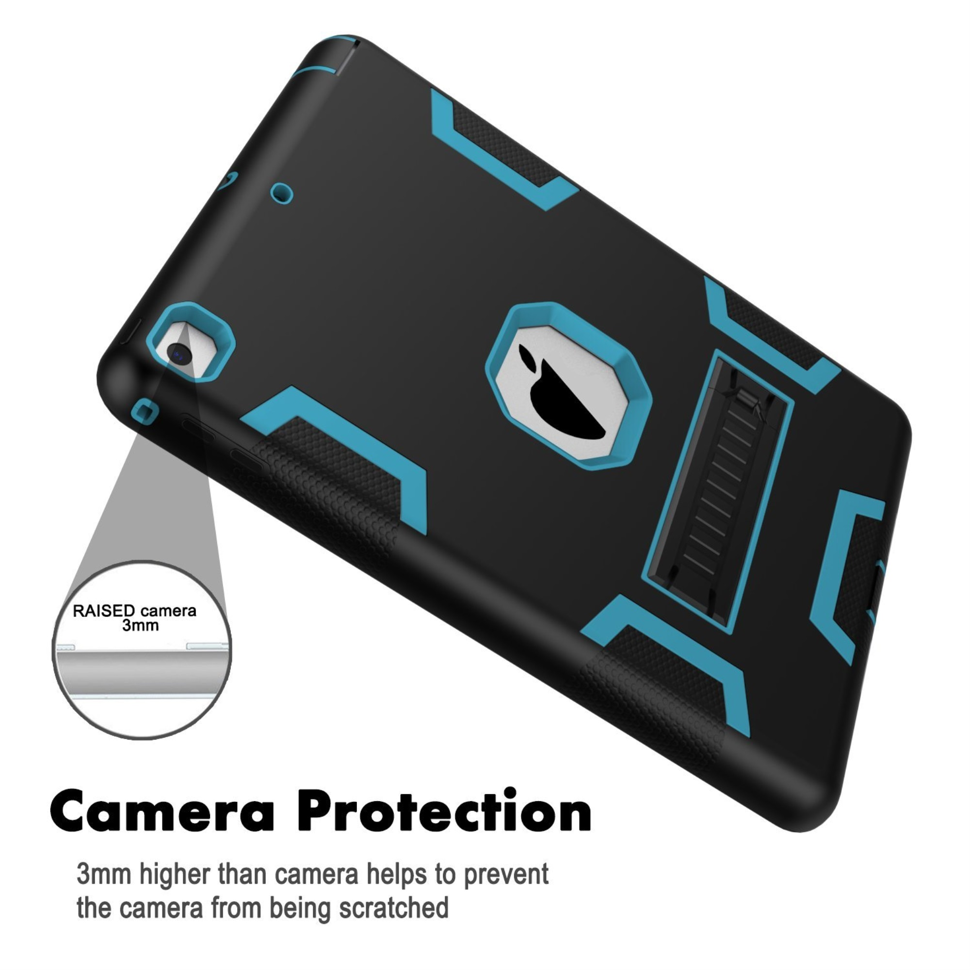 thumbnail 3 - For Apple IPad 2 A1395 / A1396 / A1397 Shockproof Duty Hard Stand Case Cover