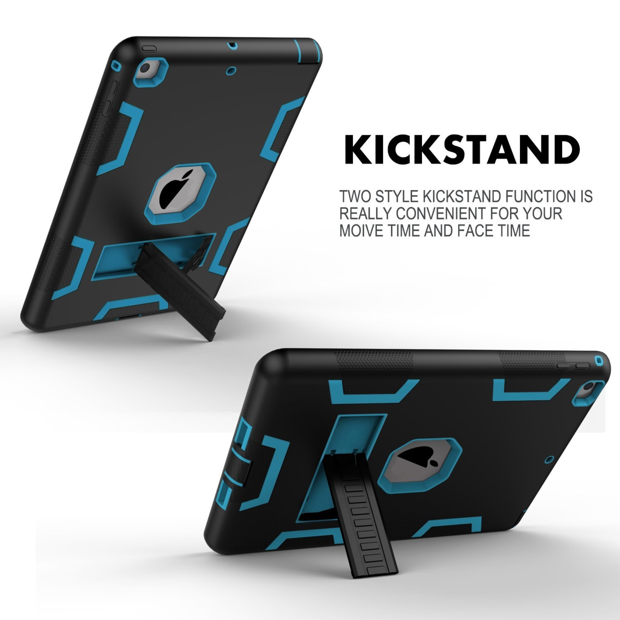 thumbnail 4 - For Apple IPad 2 A1395 / A1396 / A1397 Shockproof Duty Hard Stand Case Cover