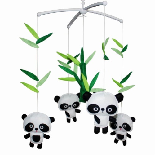 Lovely Infant Music Mobile Handmade Baby Crib Mobile High Safety Baby Cute Pandas