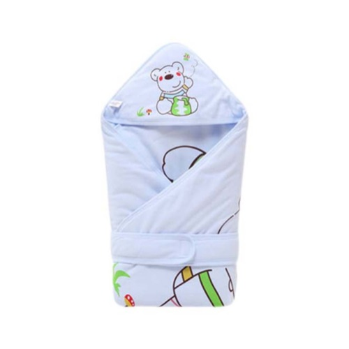 Blankets & Throws Soft And Comfortable Thin Cotton Blue Baby Swaddle Blanket Baby