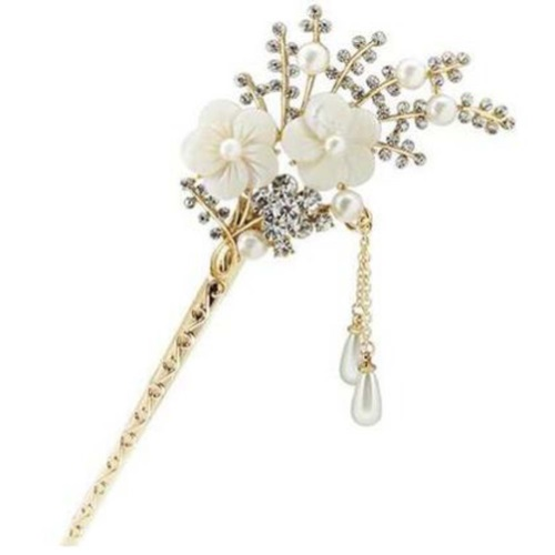 classical european style cherry blossoms hairpin metal
