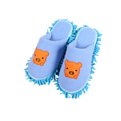 d447076a6c6 Blue Pig Lazy Wipe Slippers Floor Slippery Soles Removable Cleaning ...