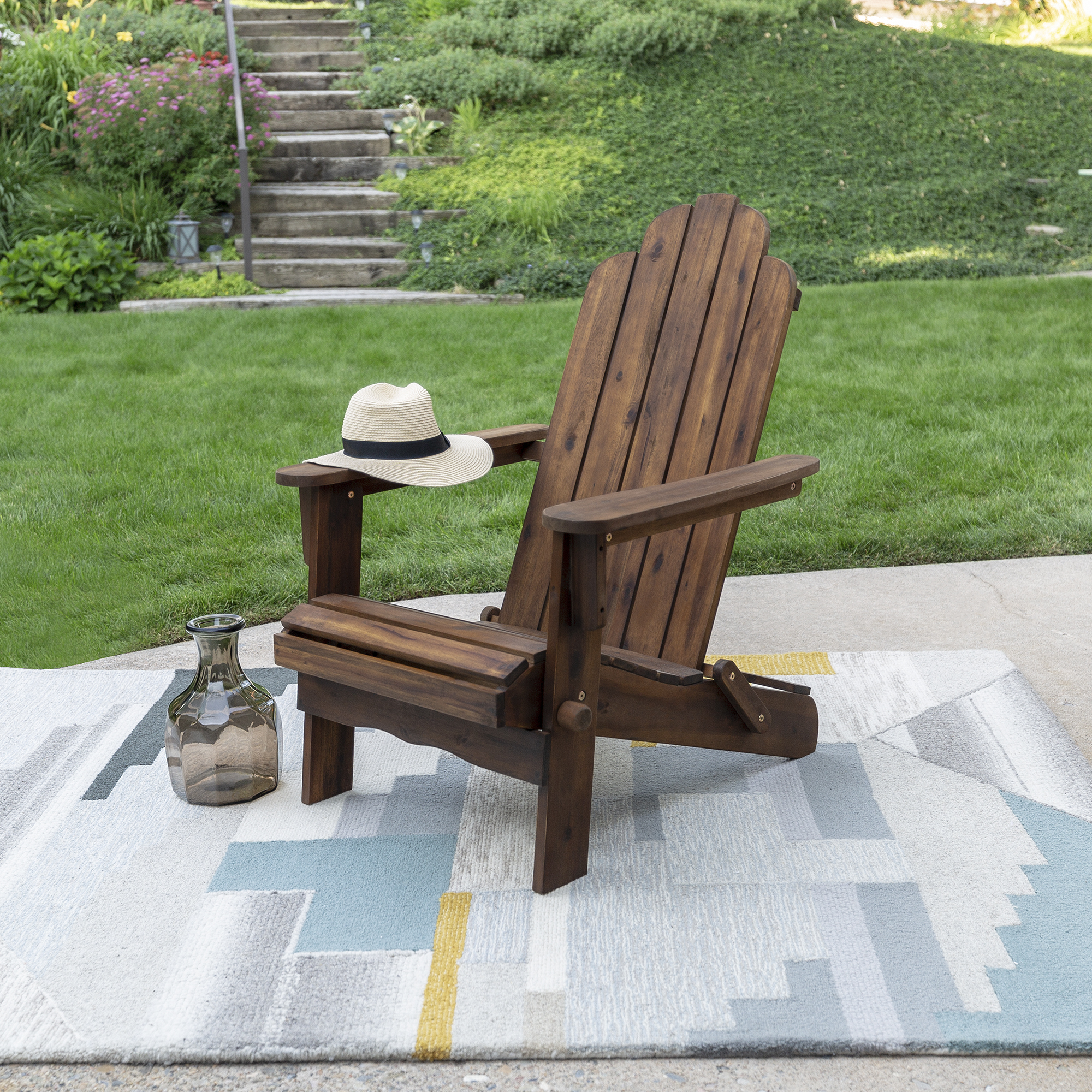 Acacia Adirondack Chair Dark Brown