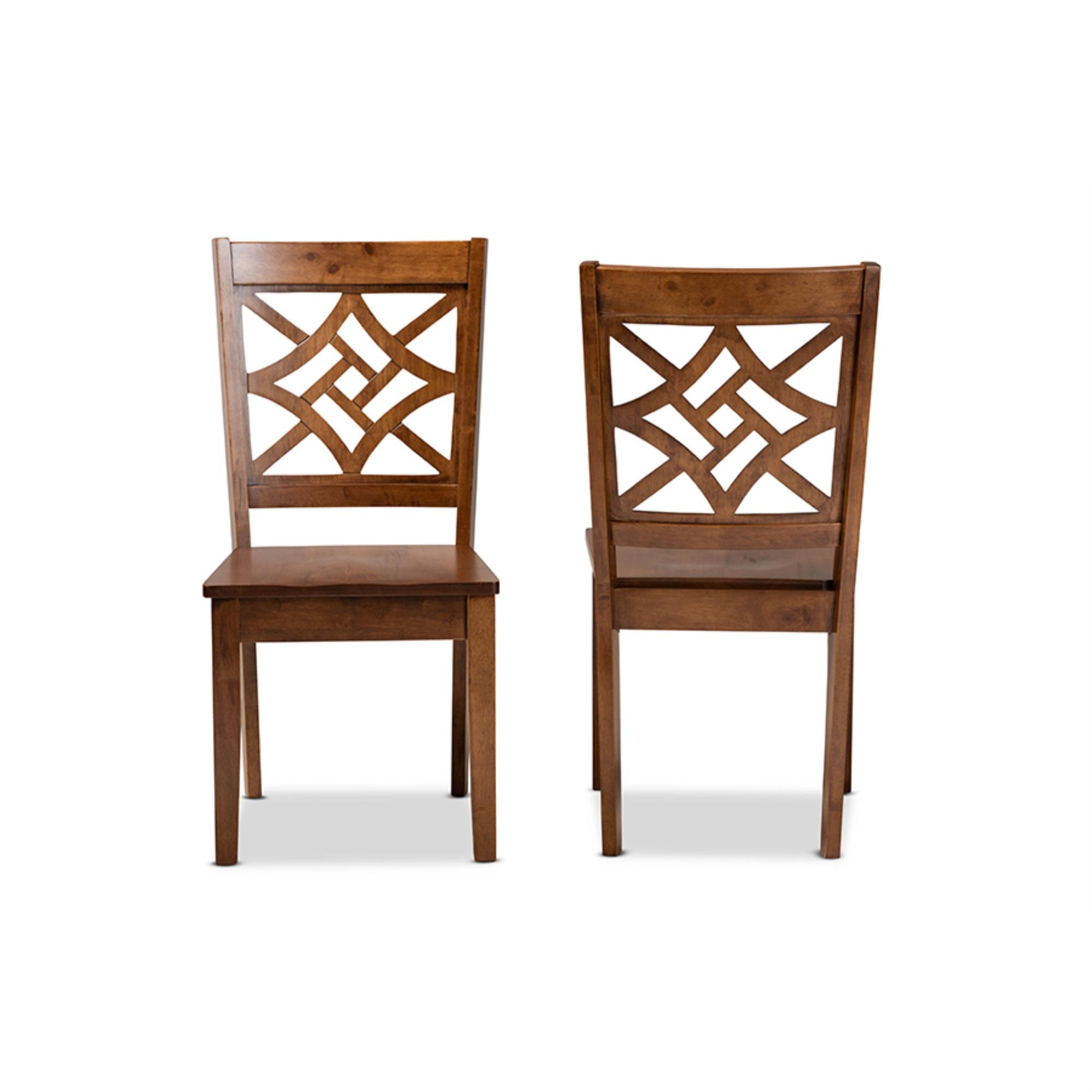 Baxton Studio Didier Modern Contemporary Office Chair Walnut White For Sale Online Ebay